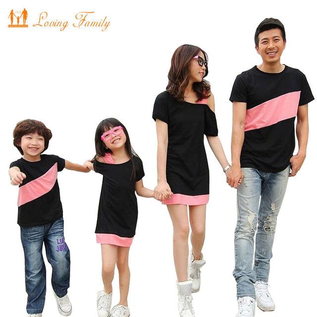 Семья посмотрите одежда специальный для матери дочь платья семьи соответствующие ...