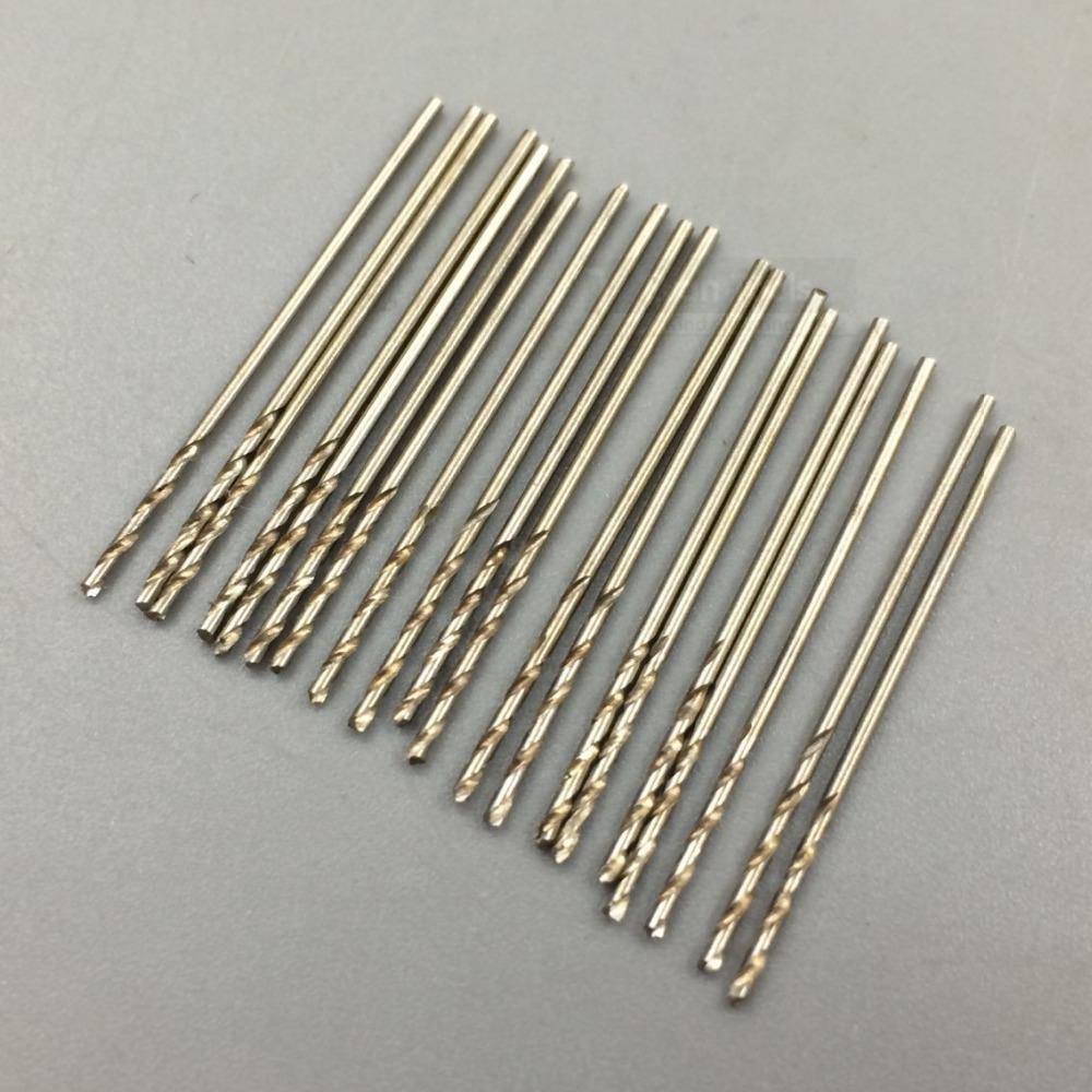 0.9mm 20pcs hss twist drill bit set GB6134 straight shank twist drills mini drill bit small drill bit set power tools