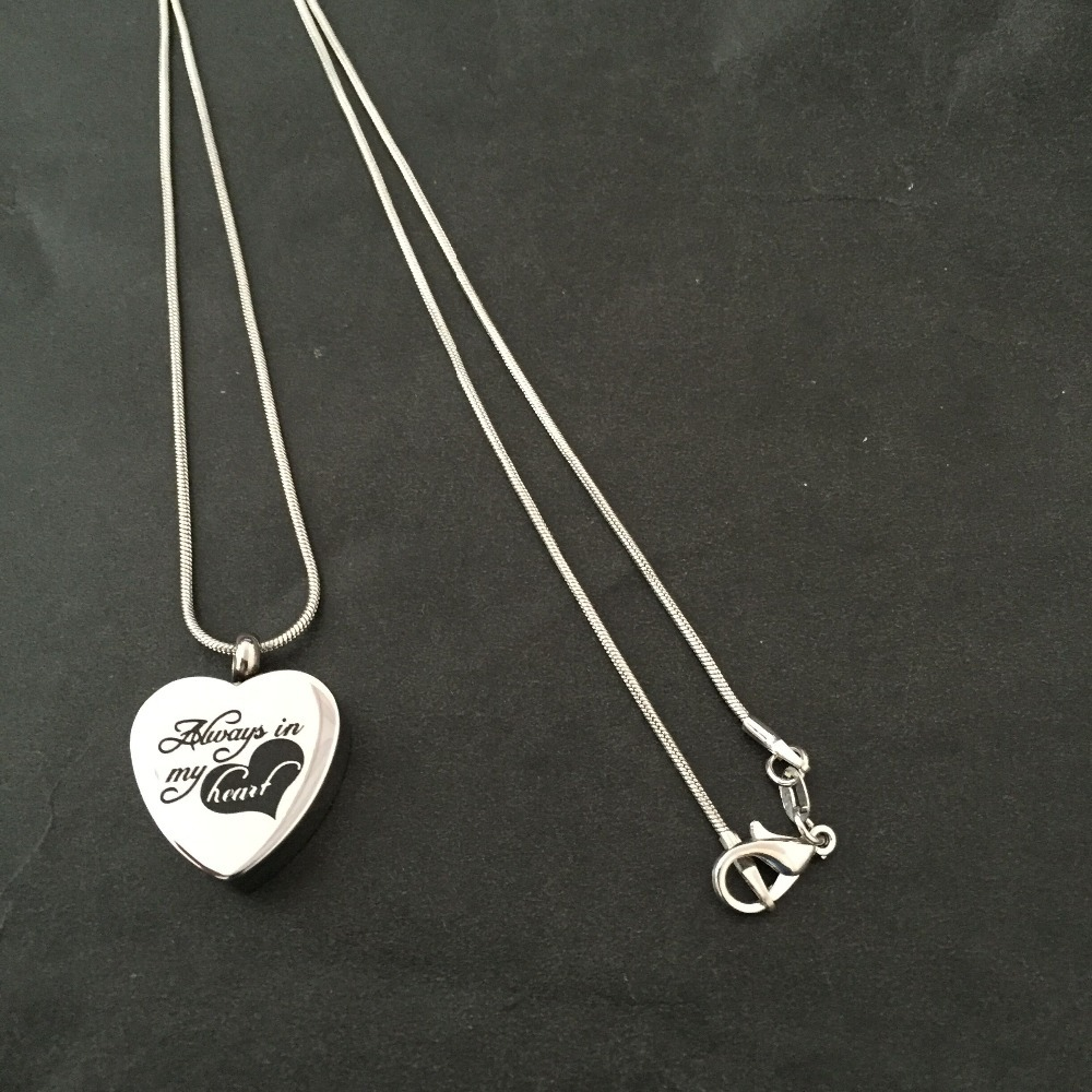 stainless steel cremation pendant jewelry for ashes