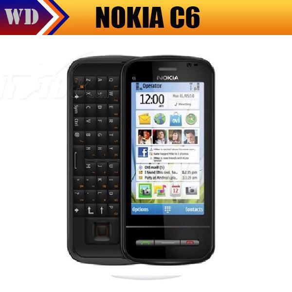 C6-00 Original Nokia C6 c6-00 3G WIFI GPS 5MP Bluetooth Jave Unlock Mobile phone(China (Mainland))