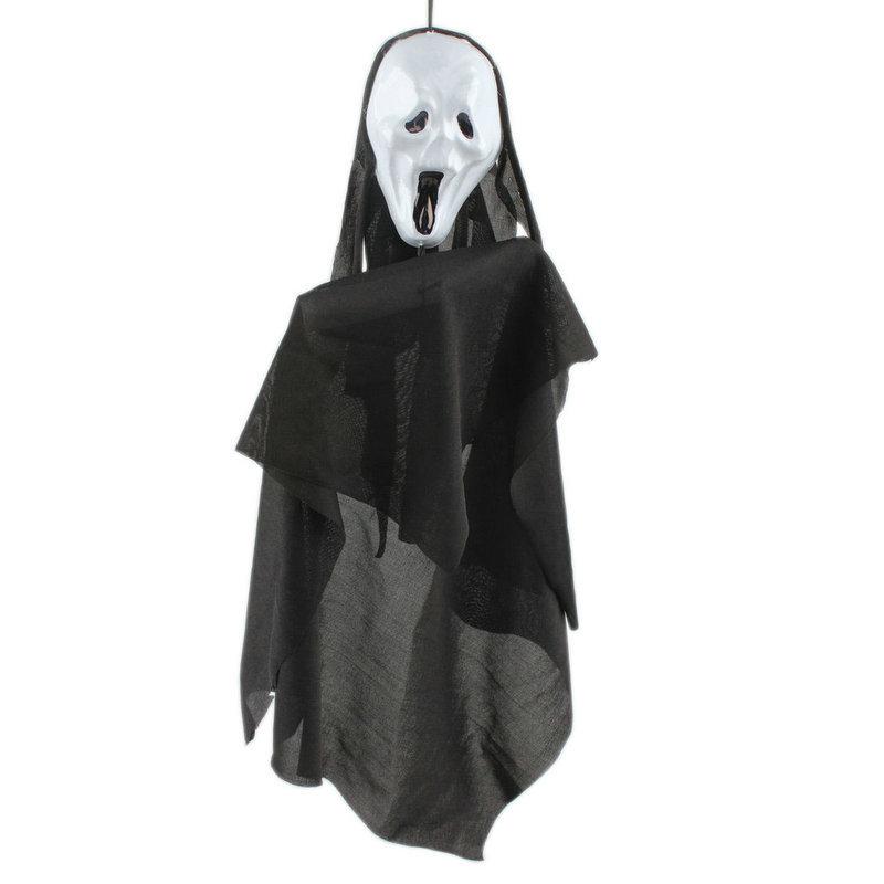 2015 Novelty Halloween Decoration Shocker Black White Hanging Ghost Horror Puppet Props Bar KTV Club Prank Toys Funny Gadgets(China (Mainland))