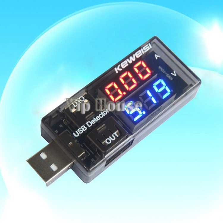 Newest LCD USB Mini Voltage Meters and Ammeter Voltage Current Detector Mobile Power USB Charger Tester Meter 50(China (Mainland))