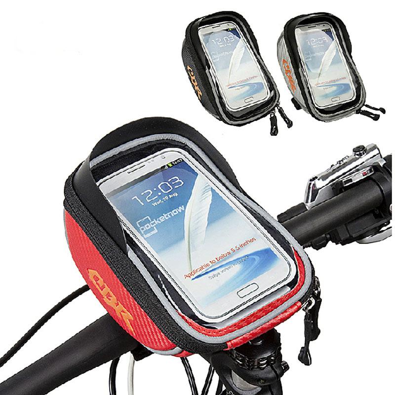 Bicycle Handlebar Bag Waterproof MTB Bike Cycling Frame Front Tube Bag Bike Package Bags Handlebar Bag for 5.5 inch Phone(China (Mainland))