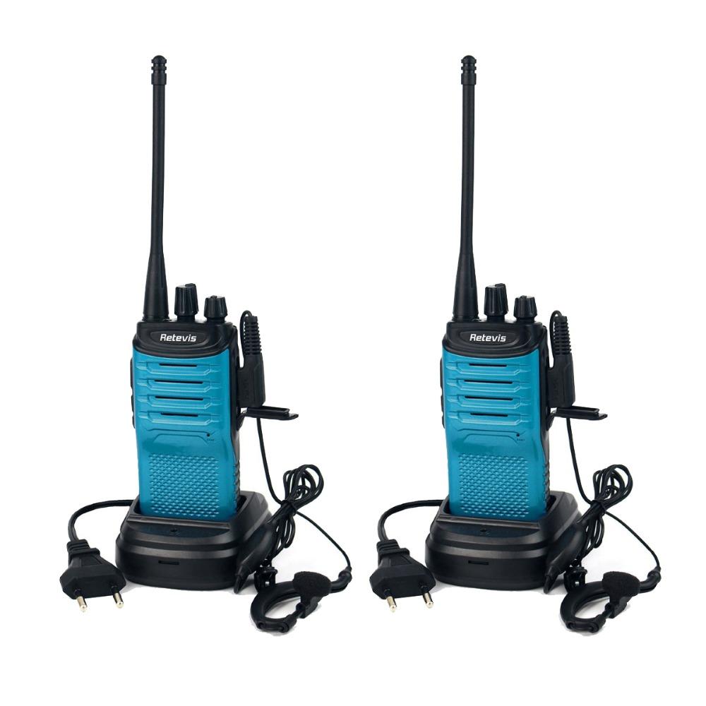 2pcs Blue Walkie Talkie Retevis RT7 5W 16CH UHF 400-470MHz Ham Radio Hf Transceiver FM Radio Scan Blue(Black Side) A9111L(China (Mainland))