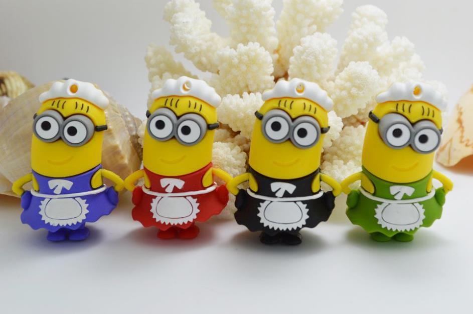 3D Cute Minions Mini Usb Key 3.0 Pendrive 512GB Usb Drive Pen Drive 64GB 32GB 16GB Memory Stick Disk On Key 128GB Gift Gifts(China (Mainland))
