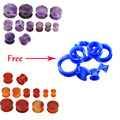Ear Gauges Free Silicone Ear Tunnels Plugs 2pair Earet Expansions Stretchers Earring Plug Body Piercing Jewelry