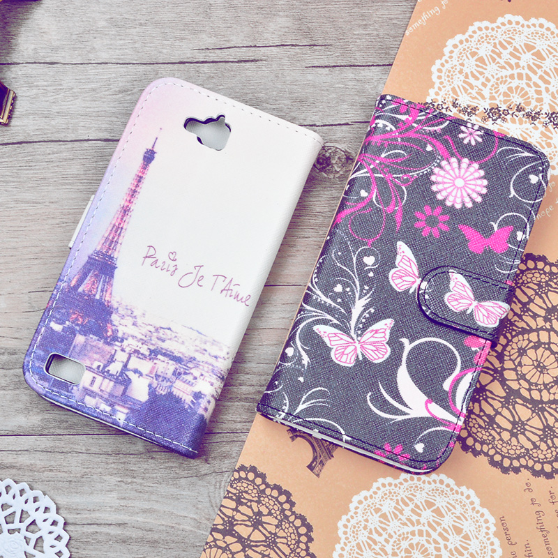 For Huawei Honor 3C Unique Cute Printing Styles PU Leather Stand Flip Cover Phone Bags Wallet Cases With Card Holders 25 Colors(China (Mainland))