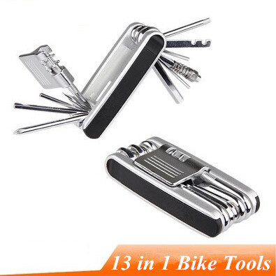 Military Bike Multi Portable Tire Ferramenta Kit 13 in 1 Multifunctional Repair Mtb Bicycle Cycling Maintenance Tools Sets(China (Mainland))