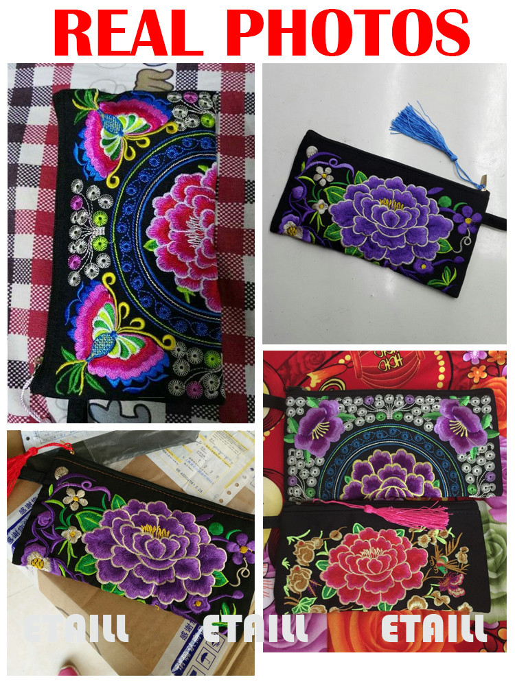 Embroider Purse Mobile Phone