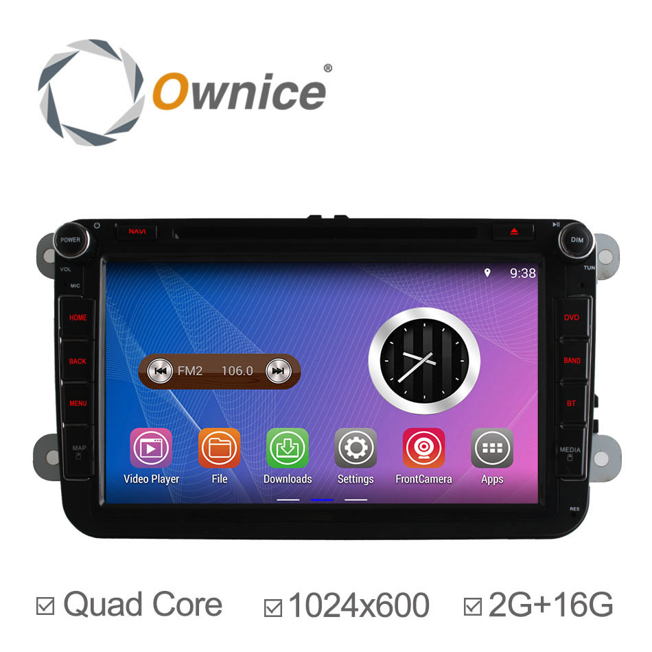 2Din 4 Core 1024*600 Android 4.4 Car DVD for VW Golf 5 6 Scirocco POLO PASSAT CC JETTA TIGUAN TOURAN GPS Navi Radio 2G/16GB(China (Mainland))
