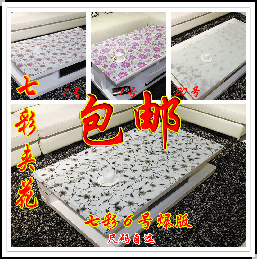 Colorful pvc plastic tablecloth transparent soft glass crystal plate table mats 3d dining table mat round table cloth waterproof(China (Mainland))