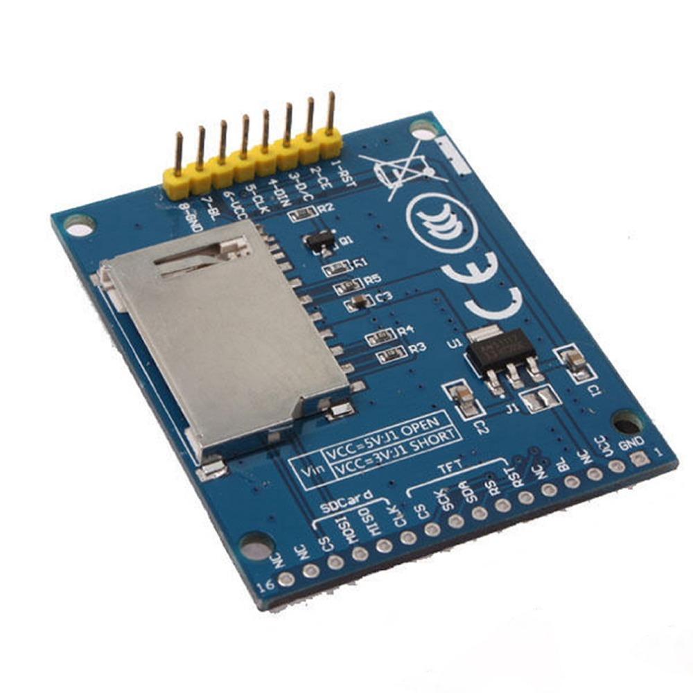 """1pcs Power IC SD Socket 128X160 1.8"""" Serial SPI TFT LCD Module Display PCB Adapter DropShipping!(China (Mainland))"""