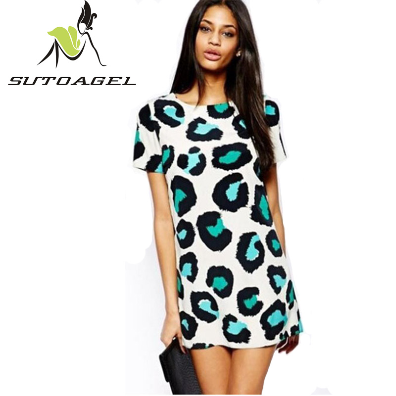 Leopard Print Short Dress Promotion-Shop for Promotional Leopard ...