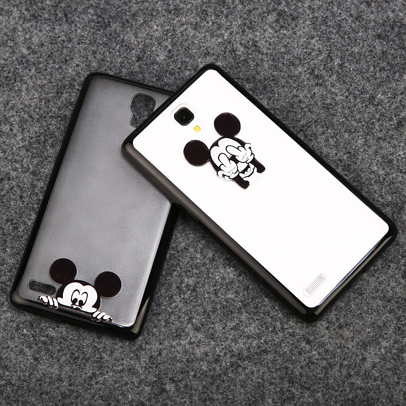 2015 plastic cell phone cover xiaomi mi4 mi 3 redmi note case cartoon mouse print CC374 - Vision Decoration store
