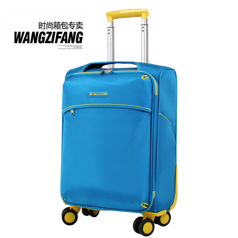"Free shipping WZF fashion waterproof nylon luggage suitcase ultra-light universal wheels trolley luggage travel bag 20"" 24""(China (Mainland))"