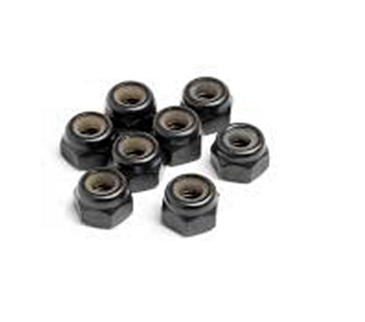 HSP car parts 02055 Nylon lock nut M4 *8P For 1/10th RC buggy car truck truggy 94103 /94107 /94111/ 94112 /94115 wholesale Hobby(China (Mainland))
