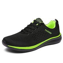 Новая мужская повседневная обувь из сетчатого материала, мужская обувь на шнуровке, легкие удобные дышащие Прогулочные кроссовки, tenis feminino ...(China)