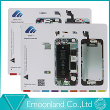 Profesional tornillo magnético estera trabajo almohadilla para el iPhone 4 iPhone 4S iPhone 5 / 5S iPhone 6/6 más herramienta de reparación de apertura envío gratis