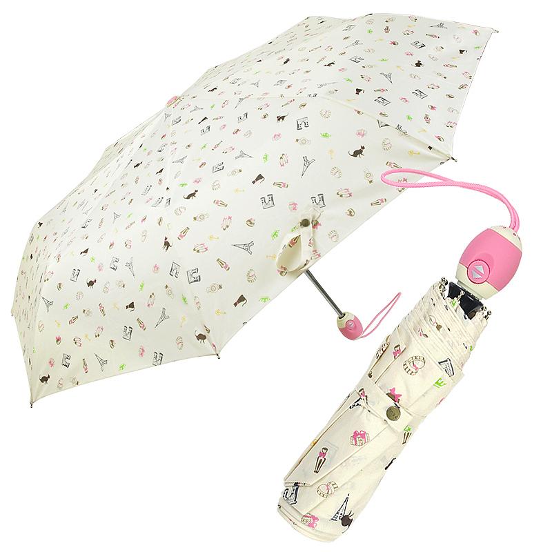 Tinoo umbrellas fresh women's automatic parasol dual folding umbrella Free shipping(China (Mainland))