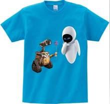 Wall-E eve robot coppia del fumetto divertente t shirt homme jollypeach nuovo Traspirante maglietta dei bambini Manica Corta T-Shirt Per Bambini MJ(China)