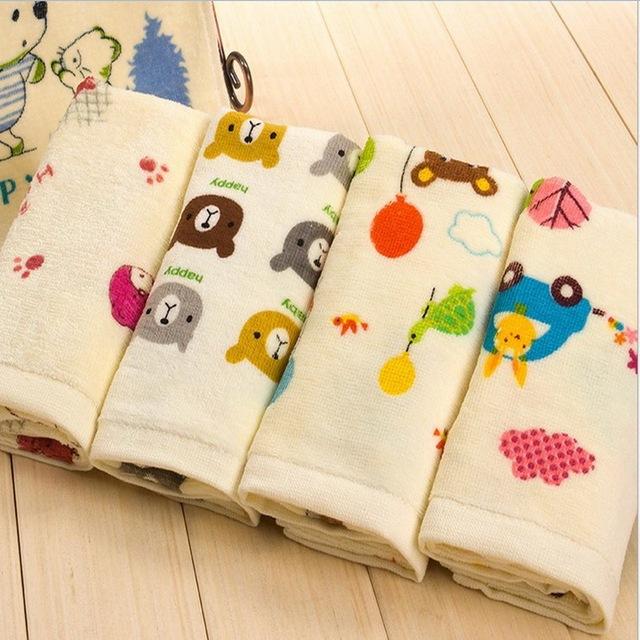 Бесплатная доставка удобные детское лицо полотенца 100% хлопок дети полотенца мультфильм ...