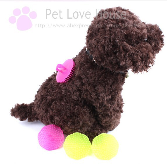 New flower shape pet bath brush dog massage brush pet grooming bathing tools(China (Mainland))