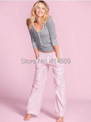 Free shipping New 2015 women 100% knitted cotton pajamas sets female high quality sleepwear sets women sleepwear suits(China (Mainland))