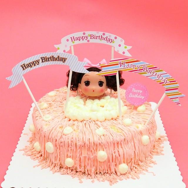 5pcs/lot happy birthday cake decoration card Cupcake ...