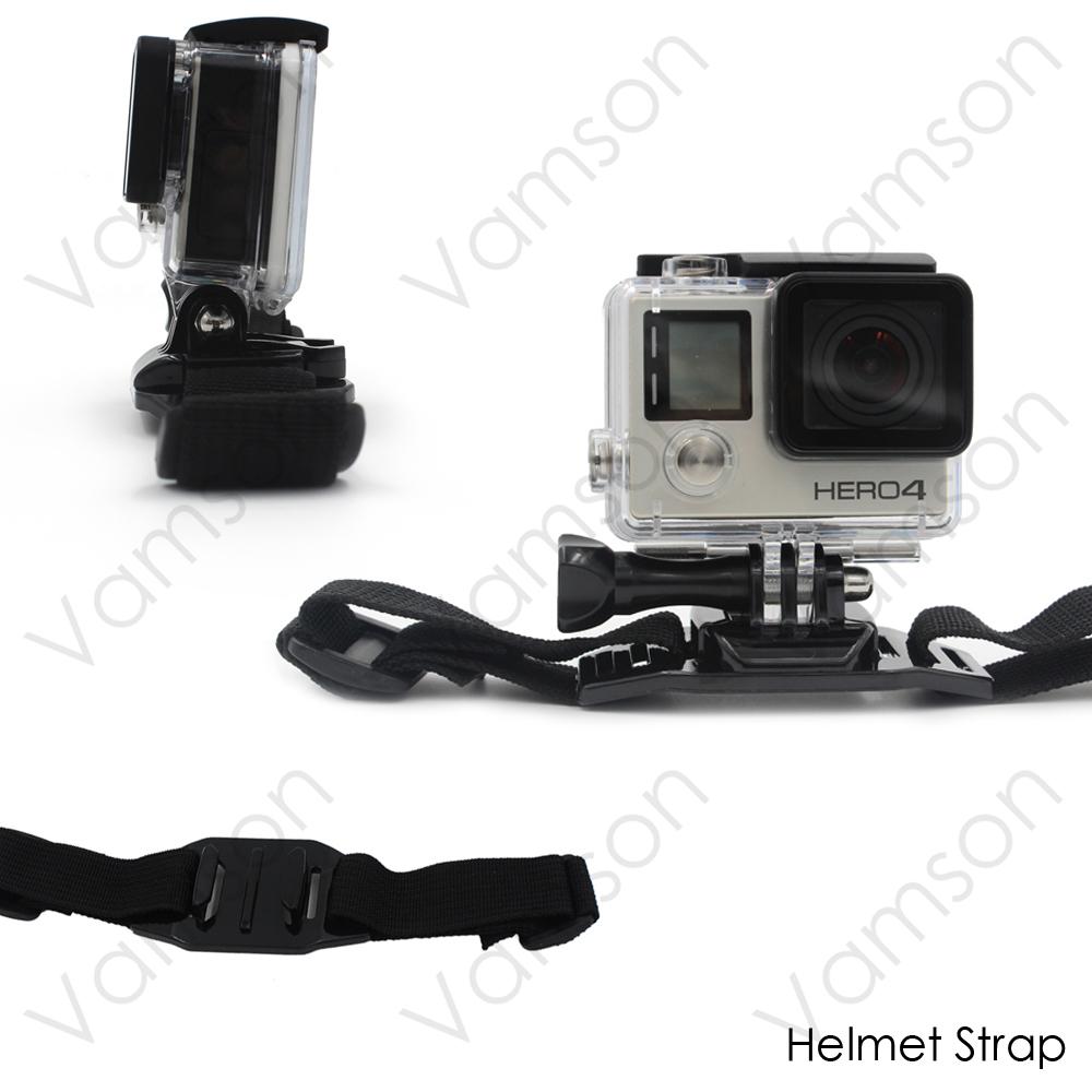 Head Strap Chest Strap Helmet Belt Floaty Bobber Wrist Band Wrench Mount Screw For Gopro Hero 5 4 3+SJ4000 Xiaomi Yi 4K VS71