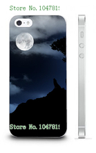 Mobile Phone Case Retail 1pc wolf Protective White Hard Case Cover For Iphone 5 5s Free Shipping