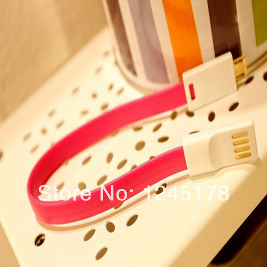 200pcs/lot Colorful 20CM color Magnet Magic USB data line Micro USB data cable Charger cable for Samsung(China (Mainland))