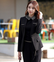 Professional set women's fashion formal slim work wear ol business set career suit ( Coat + Pants) plus size xxxxl