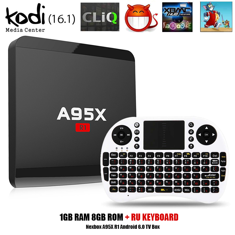 Nexbox A95X R1 Rockchip RK3229 Quad-core Android 6.0 Smart TV Box RAM 1GB 8GB HDMI2.0 4Kx2K HD 2.4G Wifi Streaming Media Player