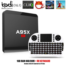 Buy Nexbox A95X R1 Rockchip RK3229 Quad-core Android 6.0 Smart TV Box RAM 1GB 8GB HDMI2.0 4Kx2K HD 2.4G Wifi Streaming Media Player for $29.20 in AliExpress store