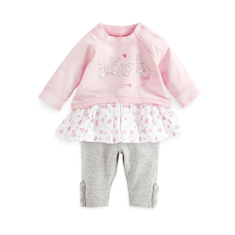 baby girl clothes kids suits cotton blouse + pant family clothing girls clothes clothing set spring / autumn cartoon shirts(China (Mainland))
