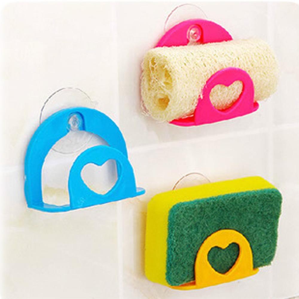 1 Pc Kitchen Gadget Dish Sponge Holder Suction Cup Sink Holder Racks Kitchen Bathroom Tools(China (Mainland))