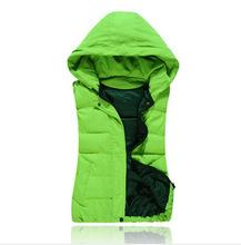 Autumn winter jacket Women s new 2015 fashion Cotton Hooded Padded Vest jacket women jacket the