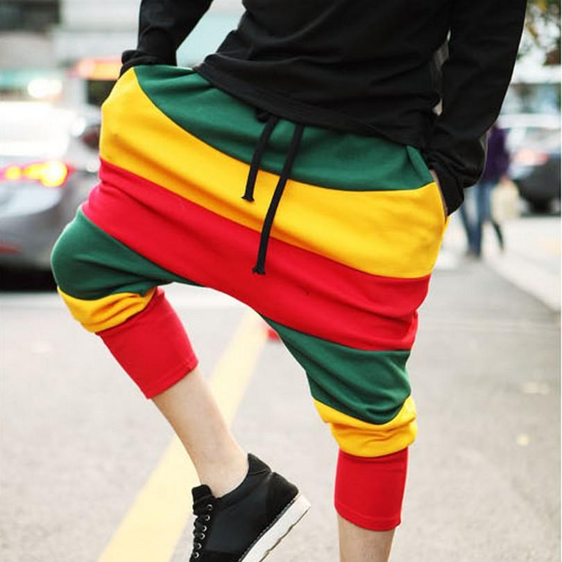 2016 fashion hip hop streetwear dance sports pants trousers korean men 39 s harem pants baggy. Black Bedroom Furniture Sets. Home Design Ideas