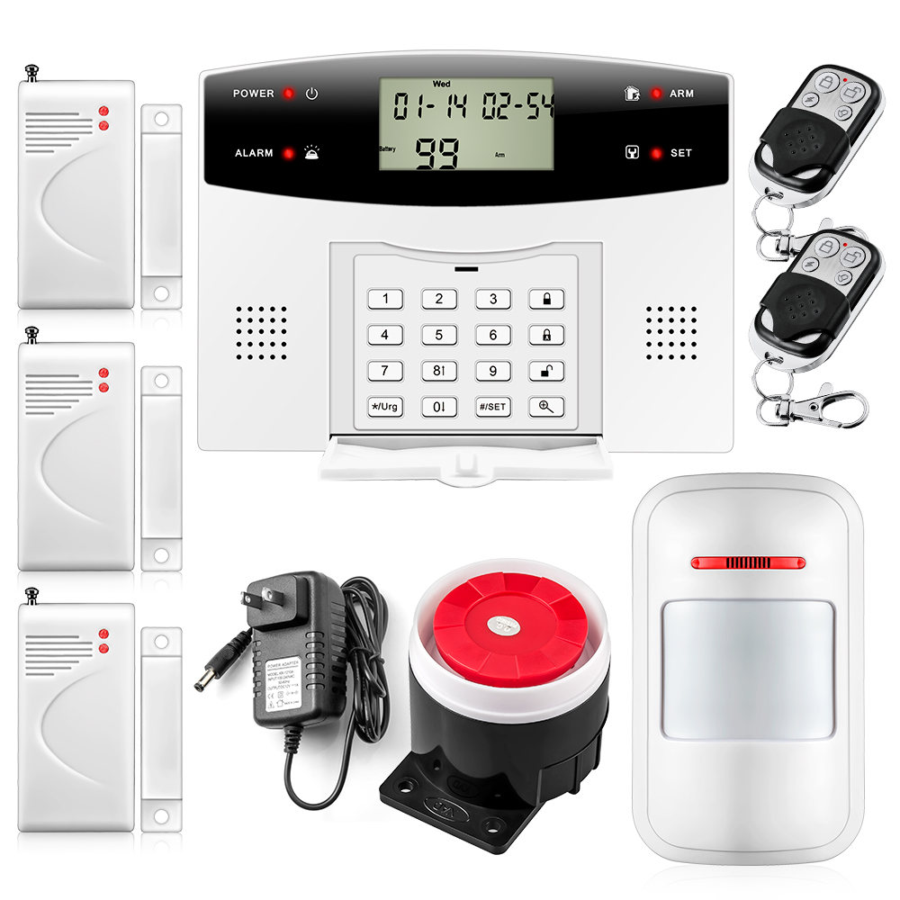 English/Russian/French/Spanish/Chinese Voice Wired Wireless LCD Home Security GSM PSTN SMS Alarm System Auto Dialer(China (Mainland))