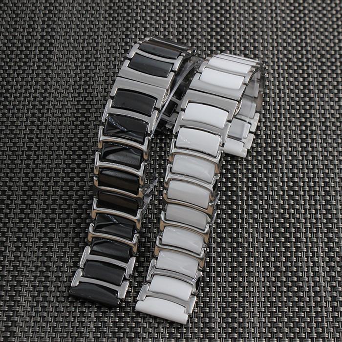 20 мм 22 мм Черный Новый Мужская Металл с Керамические Часы Ремешок Из Нержавеющей Стали Браслеты Для Смарт-Часы С Инструментом