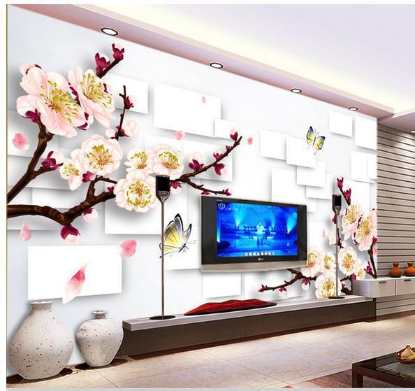 Buy wallpaper elegant cherry blossoms for Cherry blossom wallpaper mural