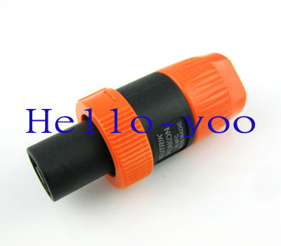 10pcs/lot SPEAKON SPEAKER Terminal 4 pin conector PRO audio jack connector Adapter orange Color For Cable free shipping(China (Mainland))