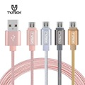 USB3 0 Data Charger Cable Nylon Braided Wire Metal Plug Micro USB Cable for Samsung