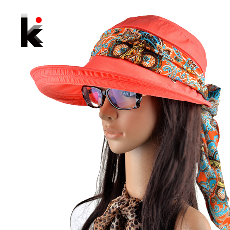 Free shipping 2017 summer hats for women chapeu feminino new fashion visors cap sun collapsible anti-uv hat 6 colors(China (Mainland))