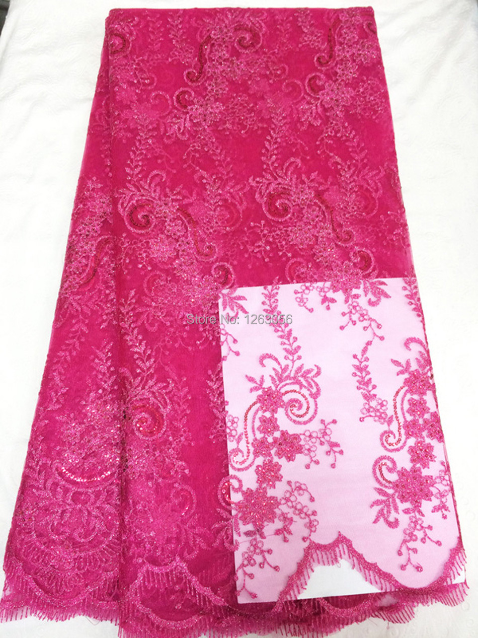 Aliexpress buy rose red french organza lace smooth