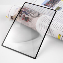 Buy 180x120mm hot selling Convinient A5 Flat PVC Magnifier Sheet X3 Book Page Magnification Magnifying Reading Glass Lens for $1.03 in AliExpress store