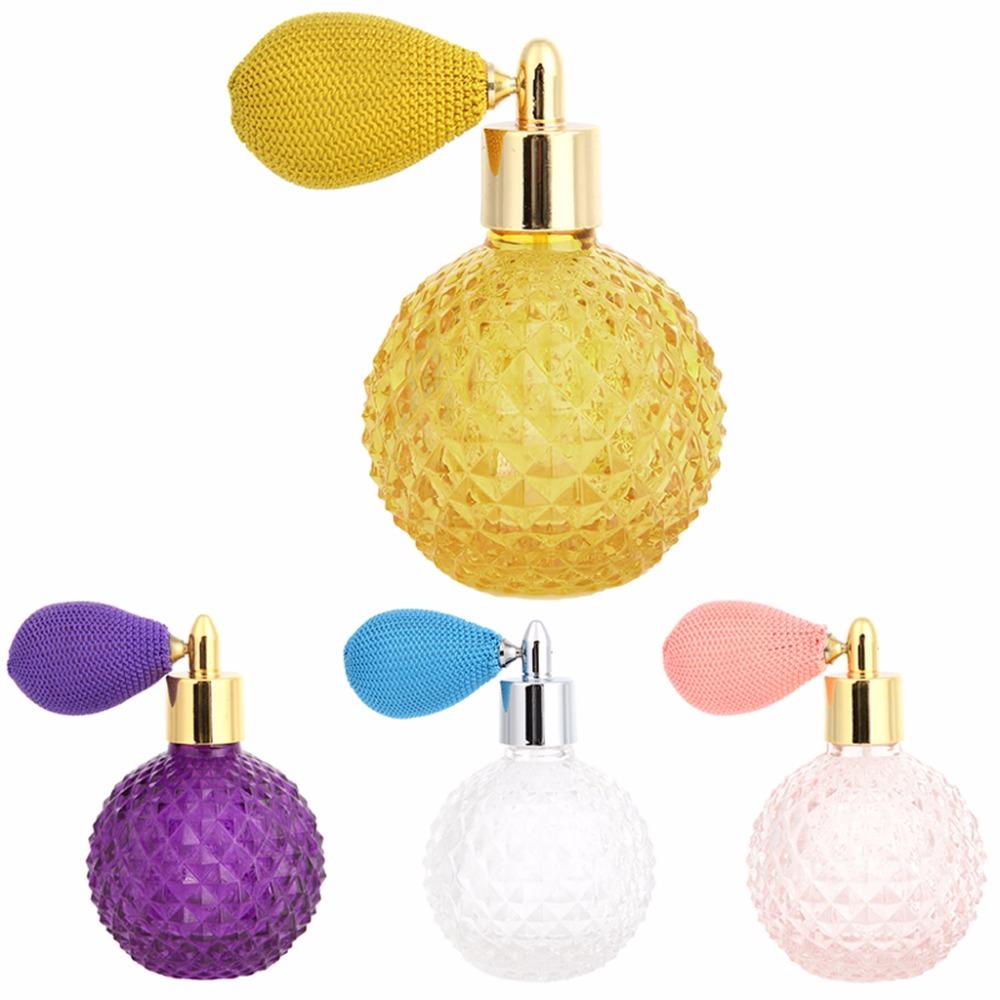Women Vintage Perfume Bottle Short Spray Atomizer Refillable Empty Glass100ml(China (Mainland))