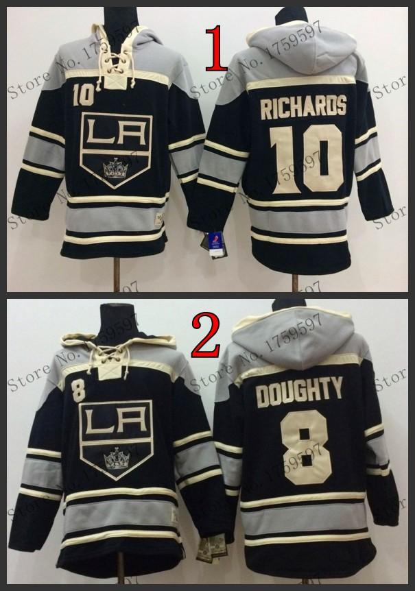 2015 Free Shipp. Cheap Los Angeles Kings Ice Hockey Jersey Hoodie #8 Drew Doughty men's Hoodies/ Hooded Sweatshirt - top usa sports jerseys store