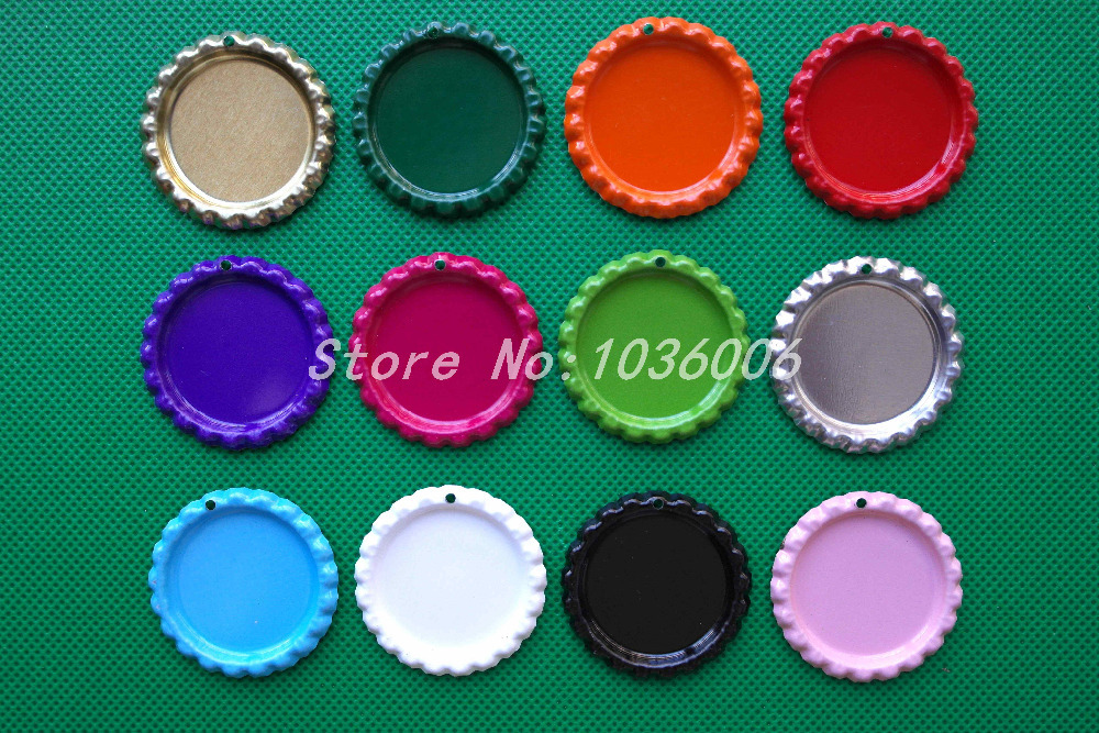 1100pcs with hole colored metal flattened beer bottle caps for Wholesale bottle caps for crafts