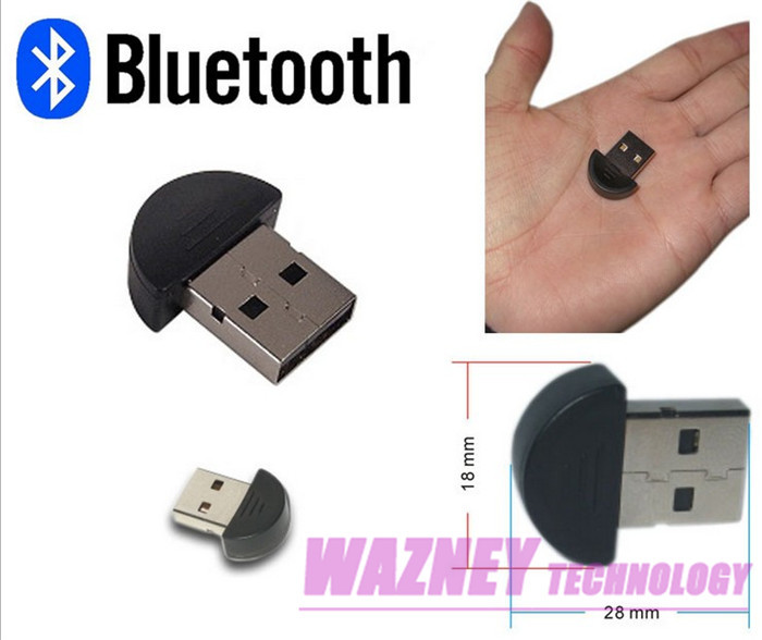 200pcs/lot * Smallest USB 2.0 Mini Bluetooth V2.0 EDR Dongle Adapter For PC or Laptop without retail package(China (Mainland))